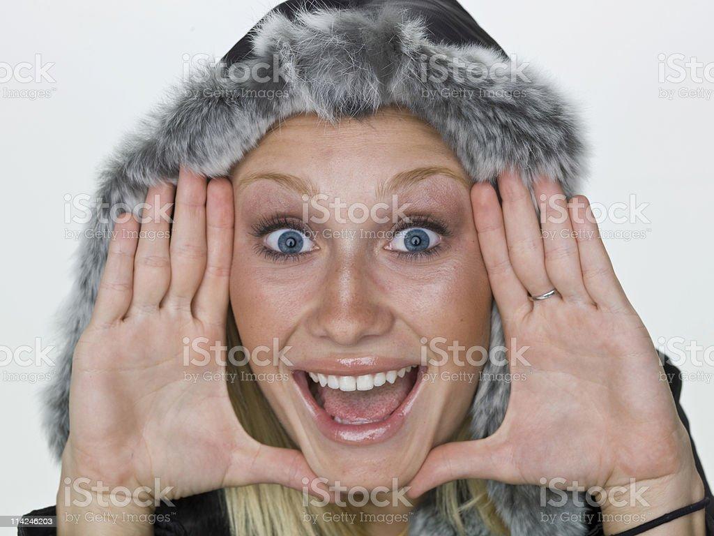swedish girl in winter royalty-free stock photo