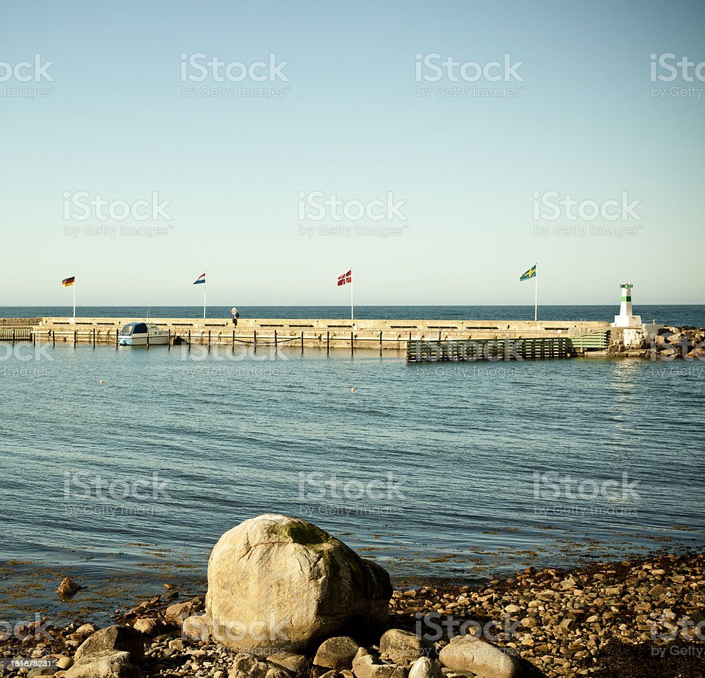 Swedish Harbour royalty-free stock photo
