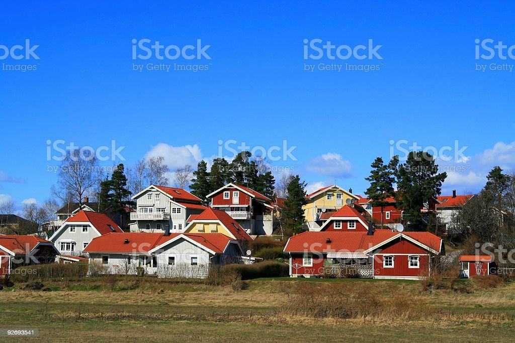 Swedish Houses royalty-free stock photo