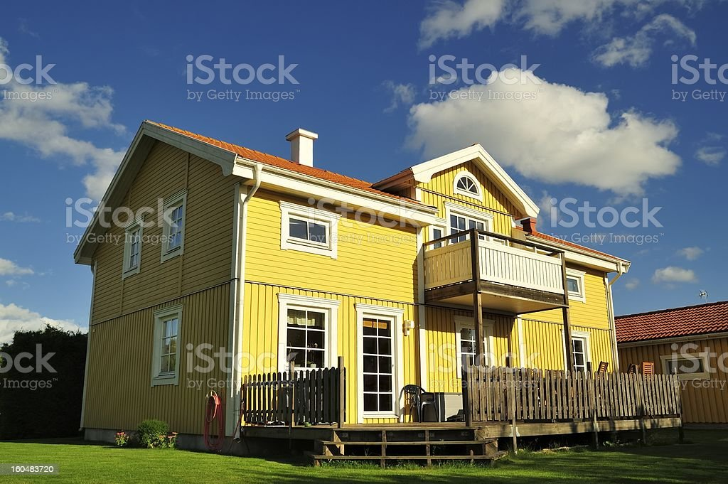 Swedish housing bildbanksfoto