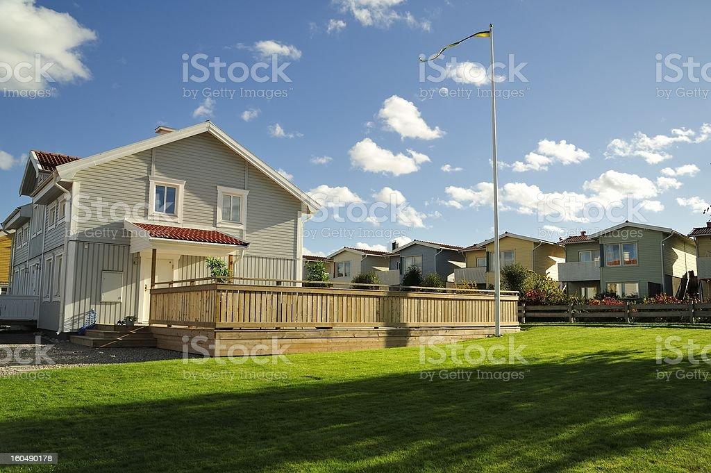 Swedish housing bildbanksfoto