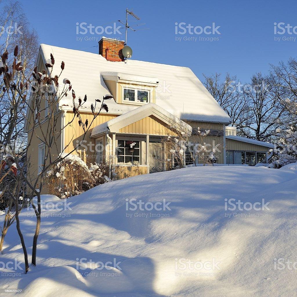 Swedish housing royalty-free stock photo