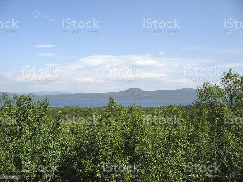 Swedish lapland royalty-free stock photo