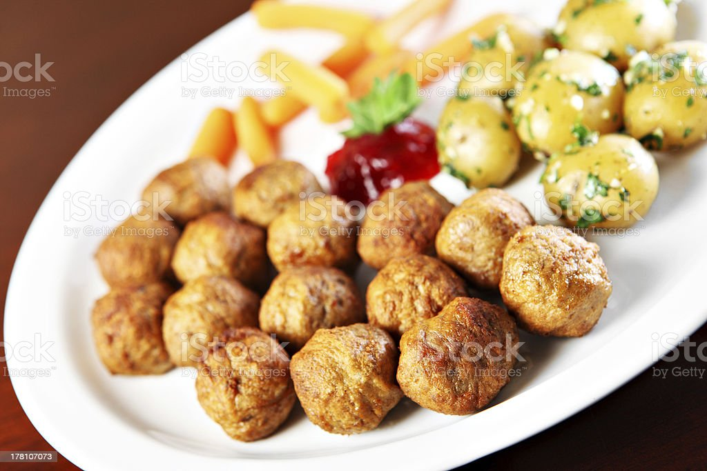 Swedish meatballs royalty-free stock photo