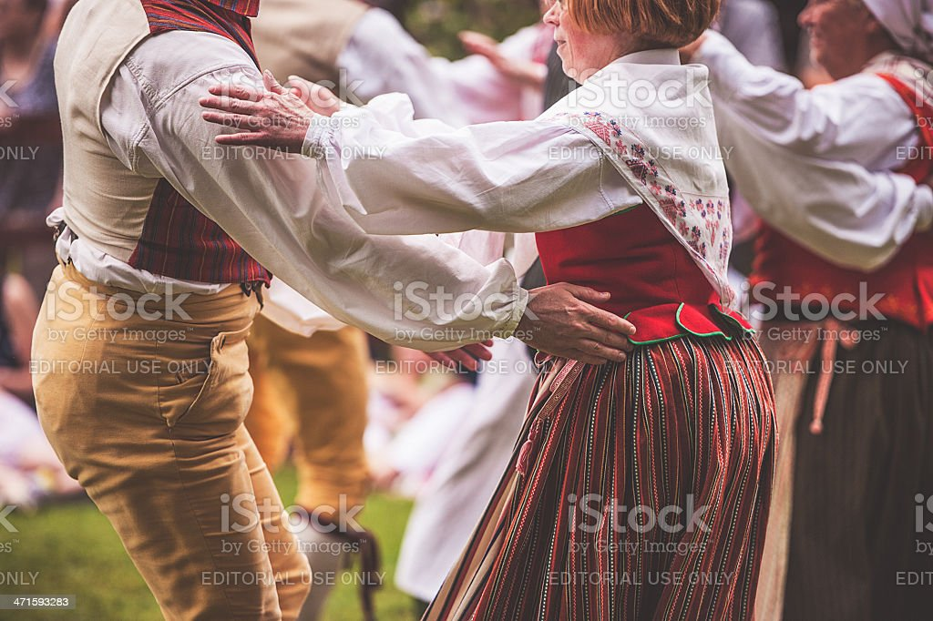 Swedish midsummer celebration royalty-free stock photo