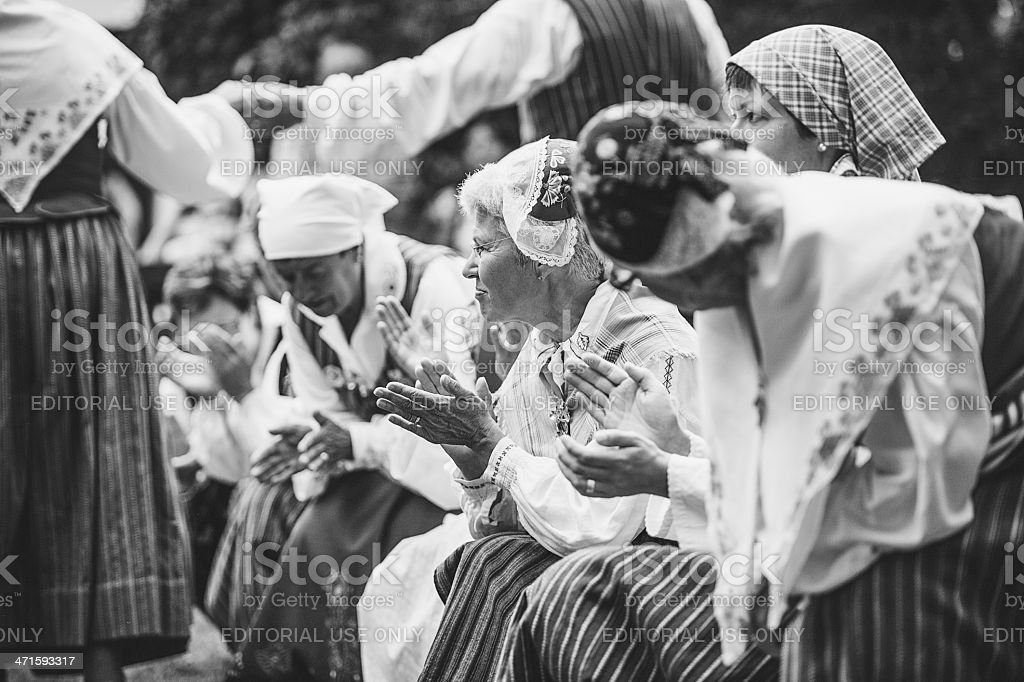 Swedish midsummer celebration royalty-free stock photo