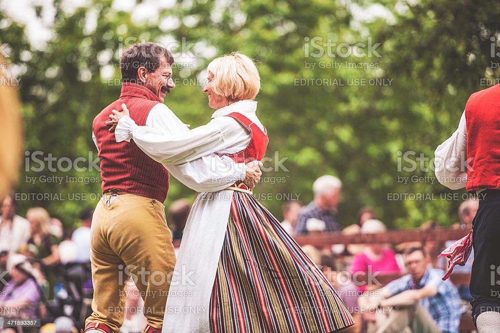 Swedish midsummer celebration stock photo