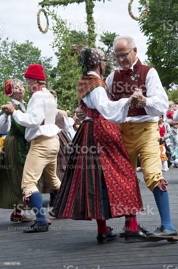 Swedish midsummer stock photo