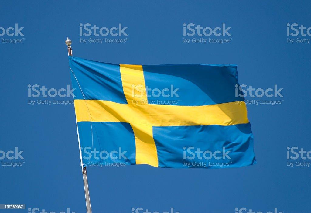 Swedish National Flag royalty-free stock photo