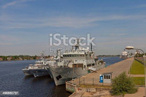 istock Swedish Navy ships in Riga port, Latvia 496880791