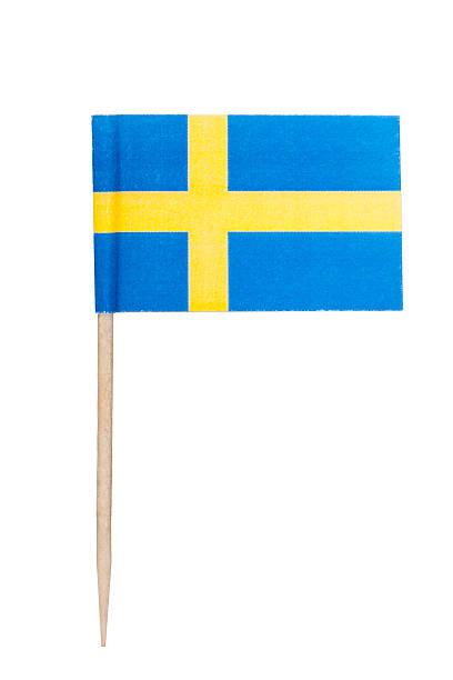 Swedish paper flag foto