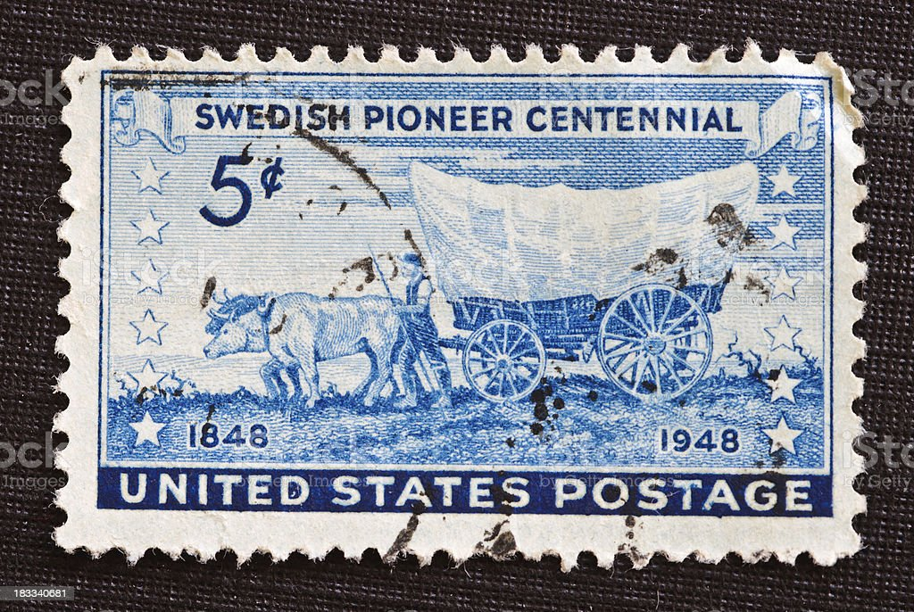 Swedish Pioneer Centennial Postage Stamp stock photo