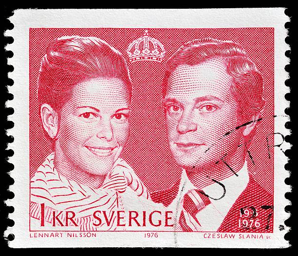 Schwedische post-stamp – Foto