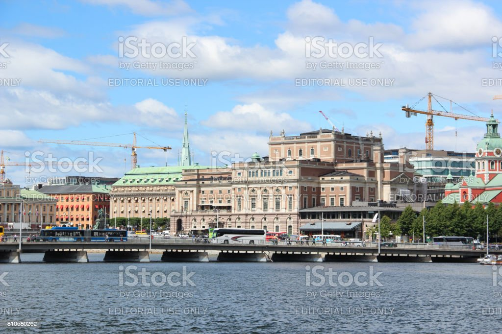 Swedish  Royal Opera House (Kungliga Operan) stock photo