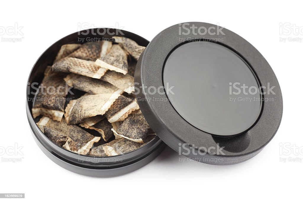Swedish snus stock photo