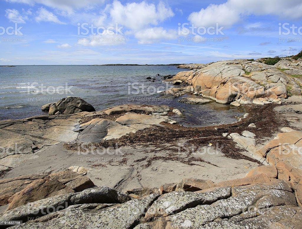 Swedish Summer Coastline royalty-free stock photo
