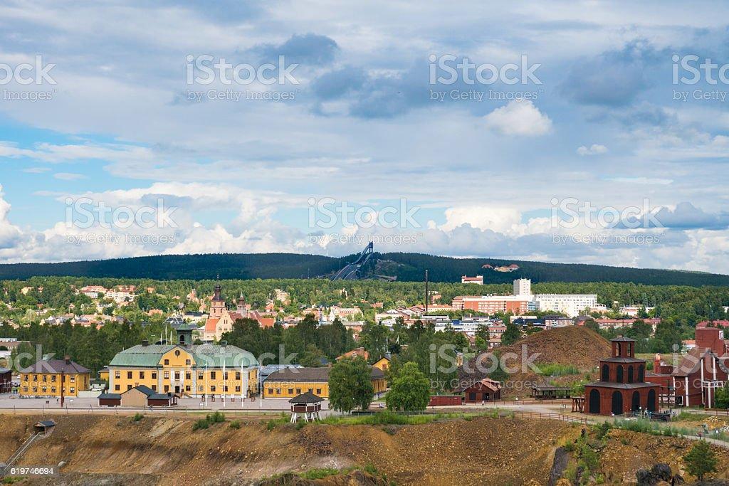 Swedish town stock photo