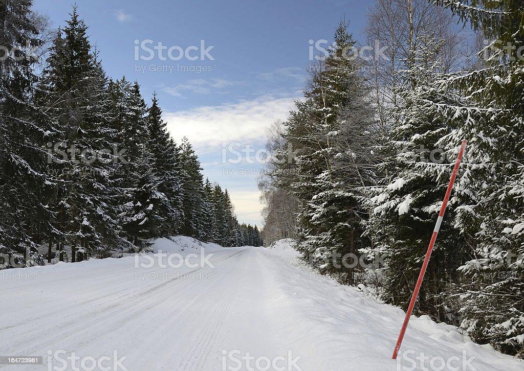 Swedish winter road royalty-free stock photo
