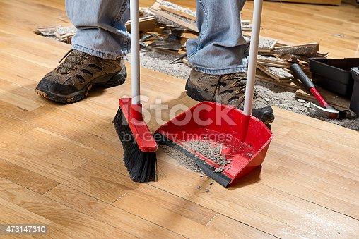 istock Sweeping Floor 473147310