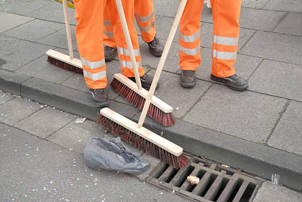 sweeping stock photo