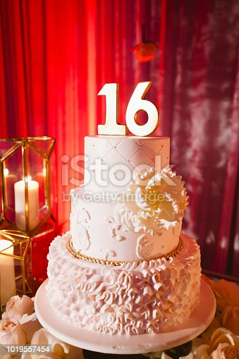 Cake for sweet 16 party