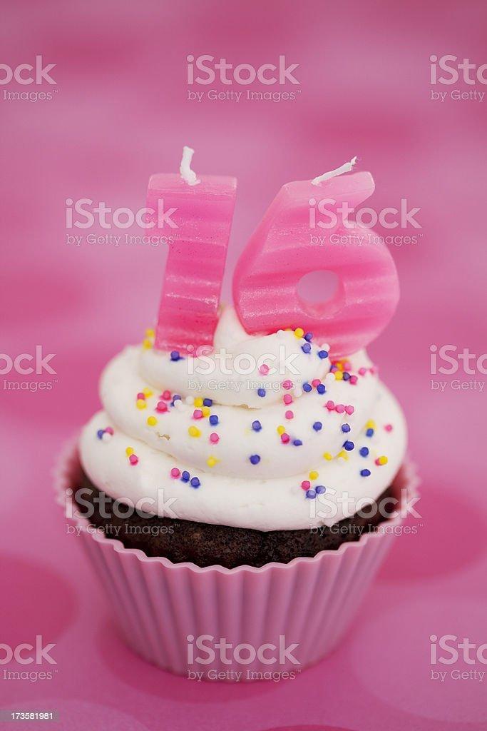 Sweet 16 cupcake royalty-free stock photo