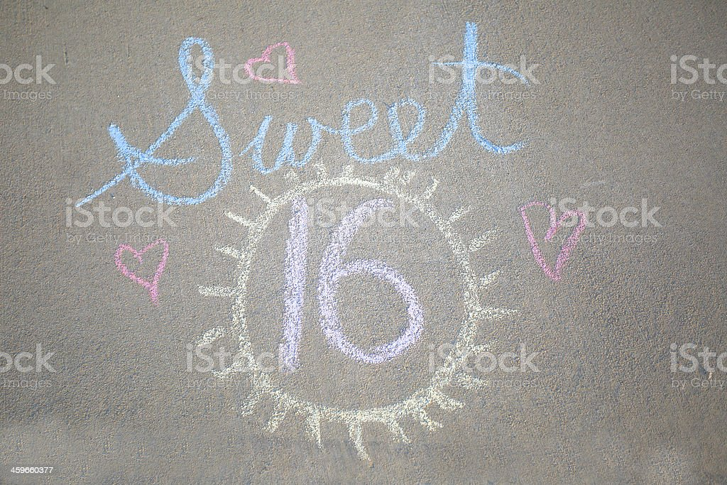 Sweet 16 stock photo