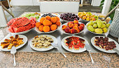 Sweet and fruit buffet