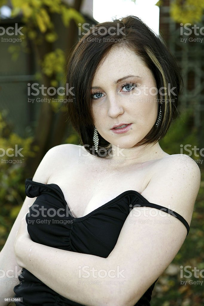 sweet and pretty girl royalty-free stock photo