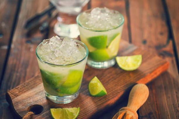 Sweet and Refreshing Drink Caipirinha Cocktail - foto stock