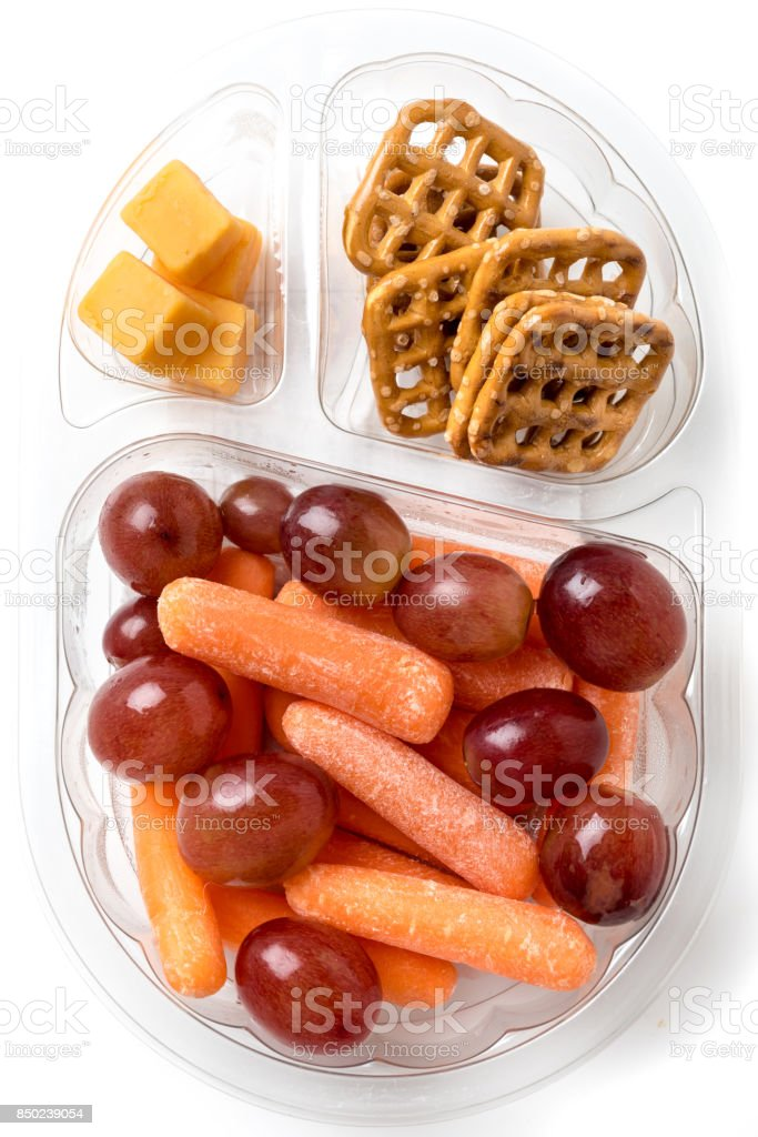 Sweet and salty snacks stock photo