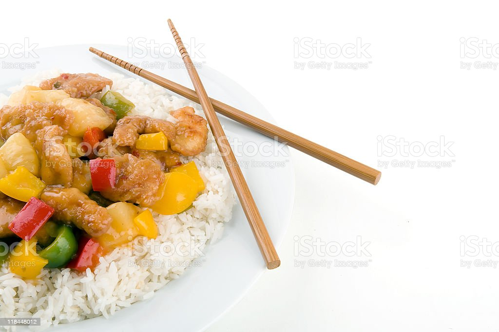 Sweet and Sour Chicken royalty-free stock photo