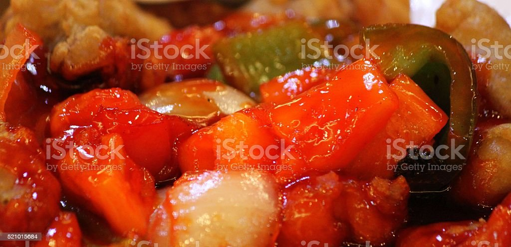 Sweet and Sour Chinese food stock photo