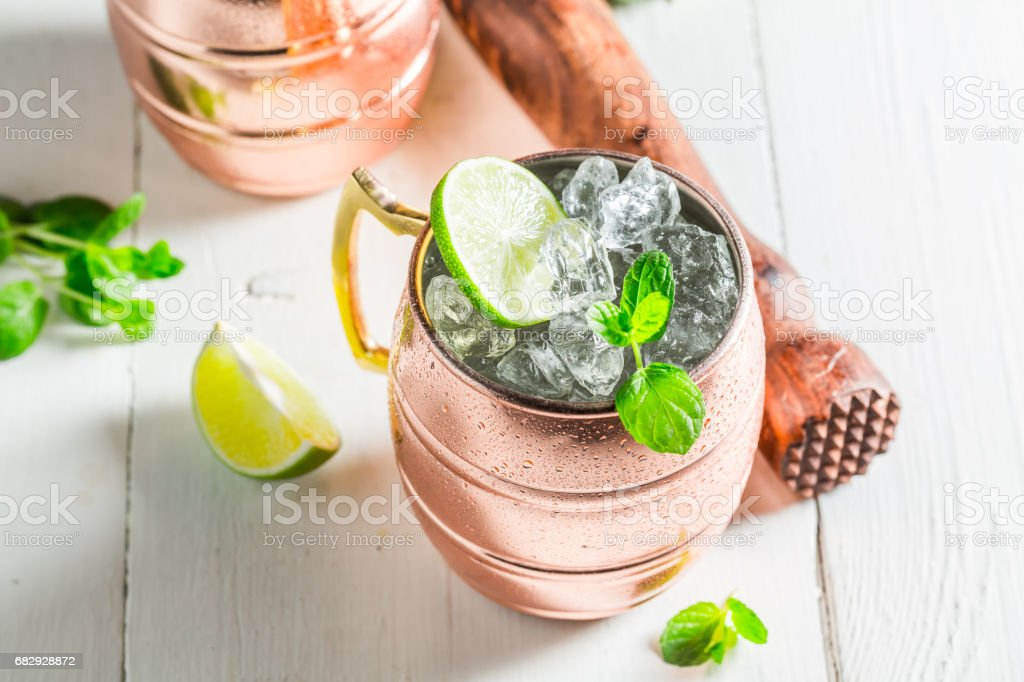 Sweet and sour cocktail made of fresh ingredients royalty-free stock photo