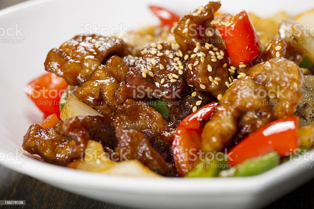 Sweet and Sour Pork royalty-free stock photo