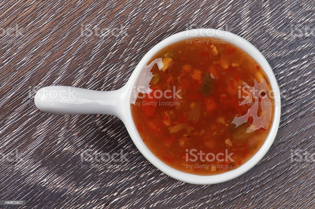 Sweet and Sour Sauce stock photo