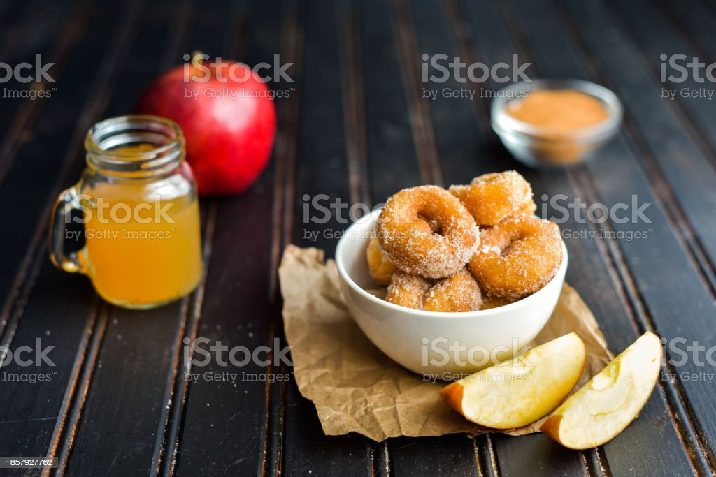 Sweet Apple Cider Donuts stock photo