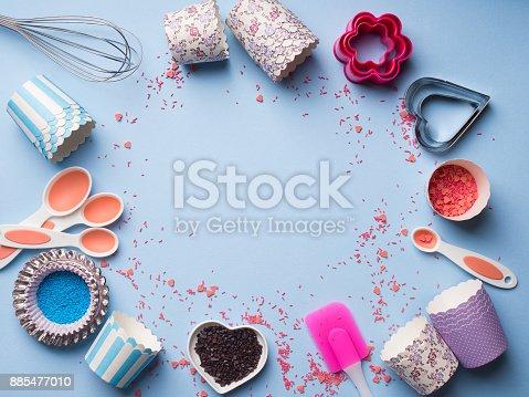 istock Sweet baking concept. Girlish style 885477010