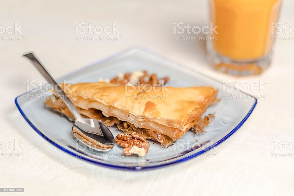 Sweet baklava stock photo