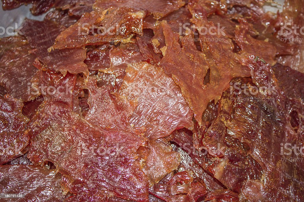 Sweet Barbecued Pork stock photo