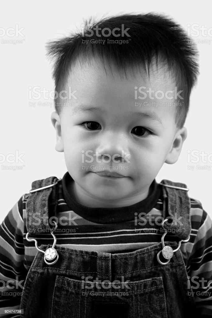 Sweet boy (black/white). royalty-free stock photo