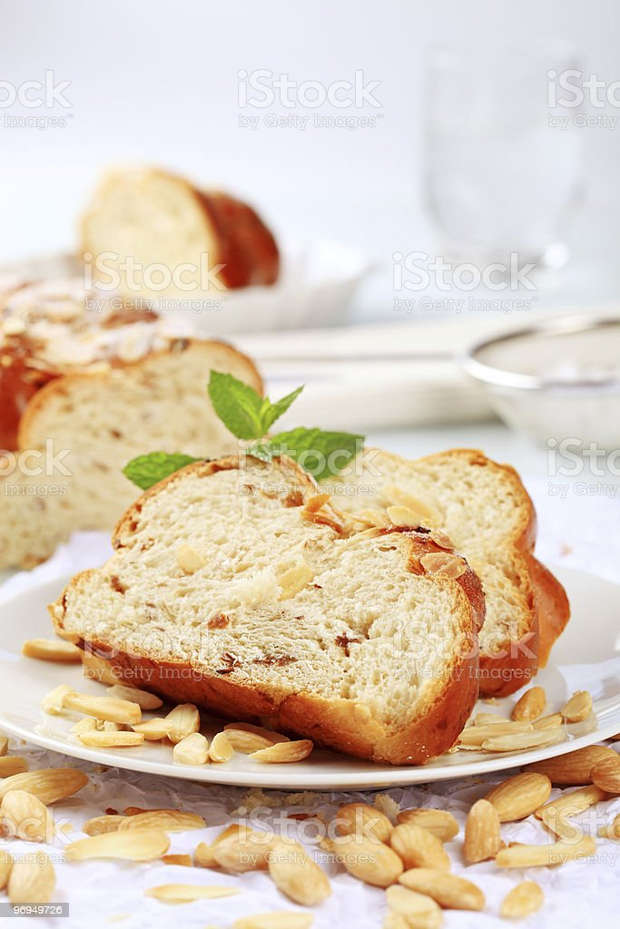 Sweet braided bread royalty-free stock photo