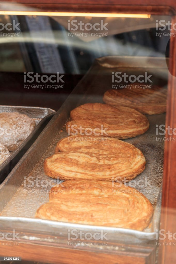 Sweet bread bear claw pastry stock photo