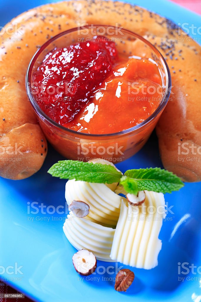 Sweet breakfast or snack royalty-free stock photo