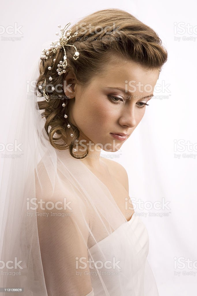 Sweet bride royalty-free stock photo