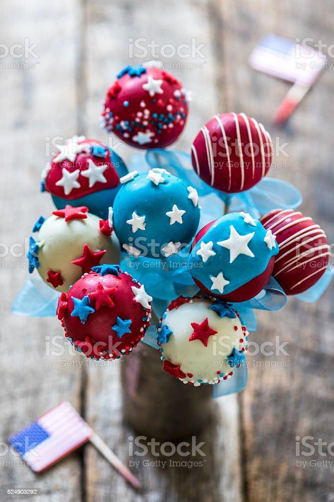 Sweet cake pops stock photo
