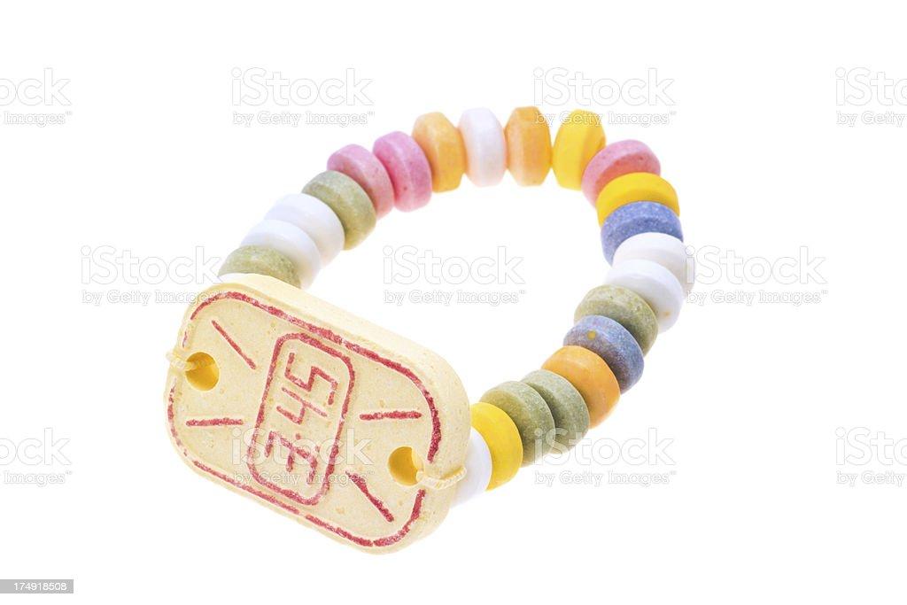Sweet candy wrist watch royalty-free stock photo