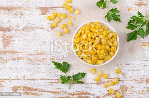 istock Sweet canned corn 1071638660