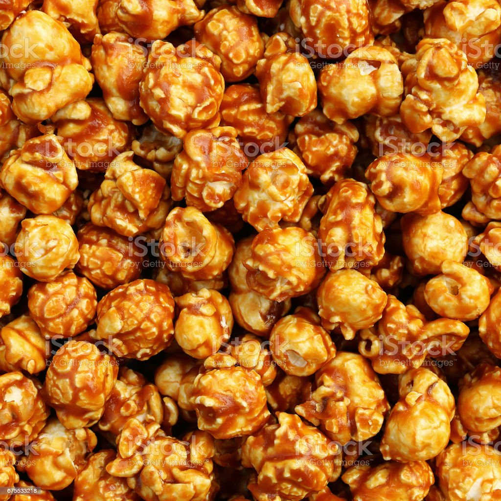 sweet caramel popcorn for pattern and background photo libre de droits