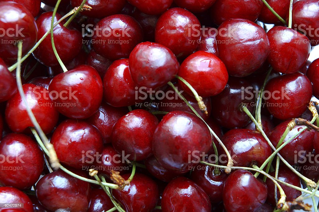 sweet cherries in close up royalty-free stock photo